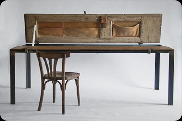 Multipurpose Table Made from a Vintage Door_3
