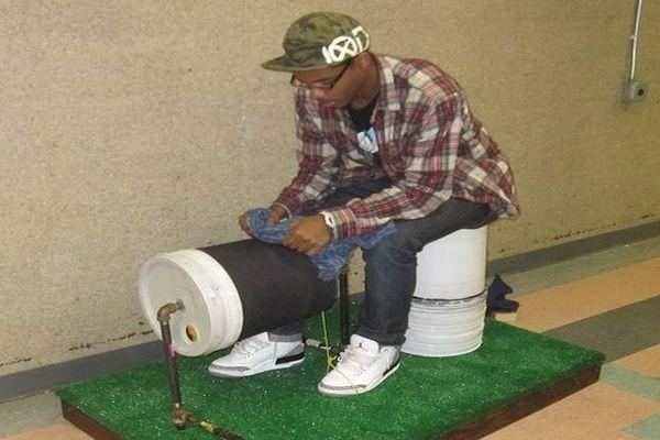 Foot-powered washing machine_2