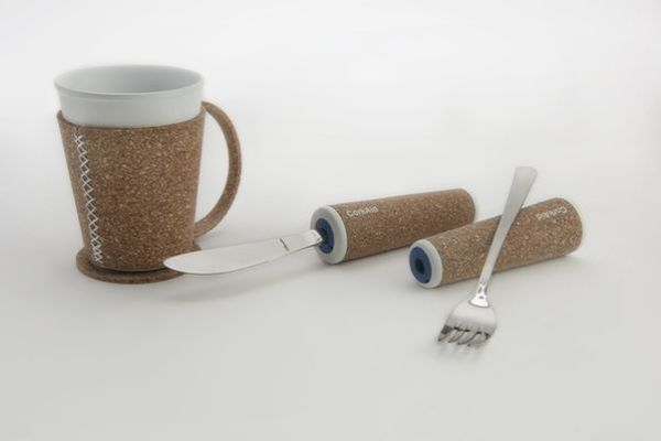 CorkAid eating and drinking aids from recycled cork_1