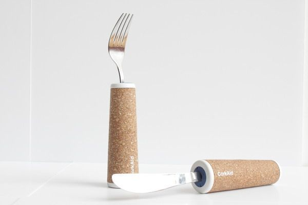 CorkAid eating and drinking aids from recycled cork_2