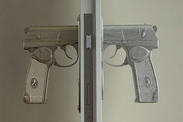 Gun Shaped Door Handle