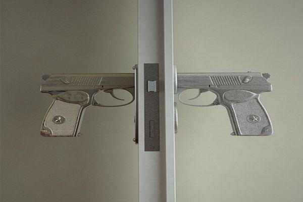 Bang Bang Gun Shaped Door Handle