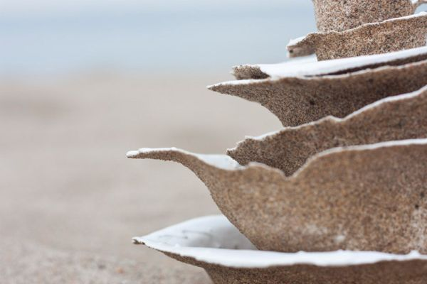 Tableware made from sand by victor castanera