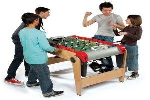 Foldable foosball table
