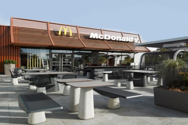 Mcdonald's outdoor furniture designed by patrick norguet