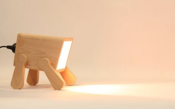 The Frank Lamp adorably mimics puppy poses