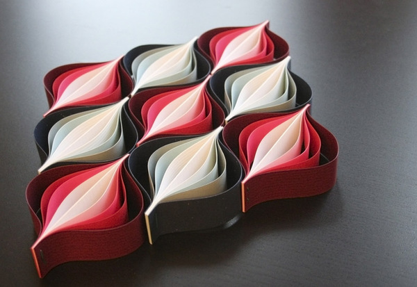 'Christmas Ornaments' made from just paper in Origami style