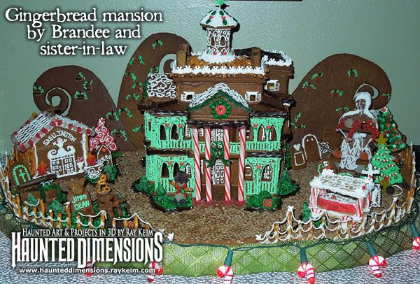 Disney themed gingerbread mansion