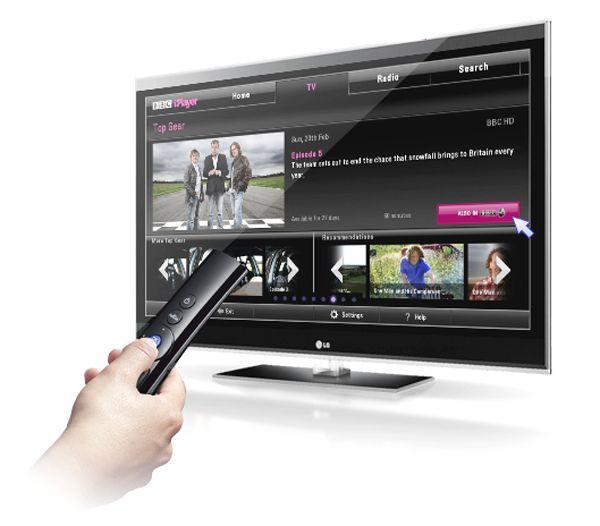 LG's Magic Motion remote control responds to voice commands