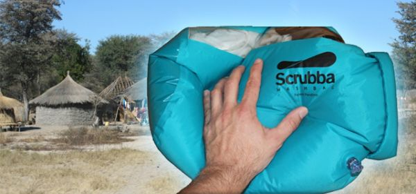 Scrubba allows outdoor cloth washing with minimal water wastage