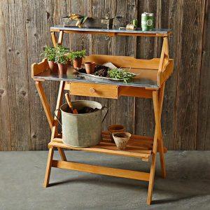 Foldable potting table