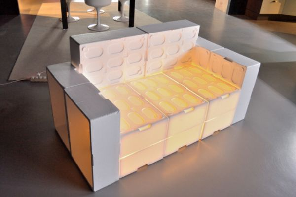 EPS fish boxes sofa by Muka Design Lab