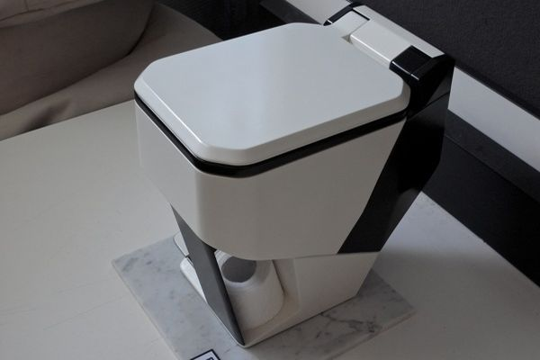 Wondrous Elevar Toilet Seat Is Controlled By A Foot Pedal Mechanism Squirreltailoven Fun Painted Chair Ideas Images Squirreltailovenorg