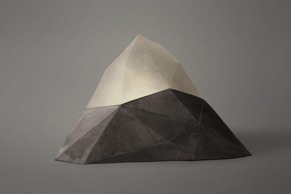 Jostedalsbreen Glass and Concrete lamp by Yeongkeun Jeong