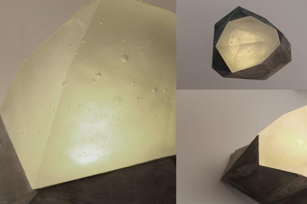 Jostedalsbreen Glass and Concrete lamp by Yeongkeun Jeong_2