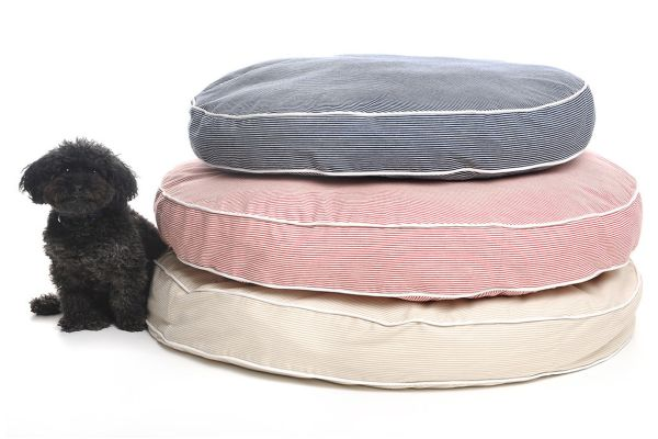 Stripe Circle Bed for dog