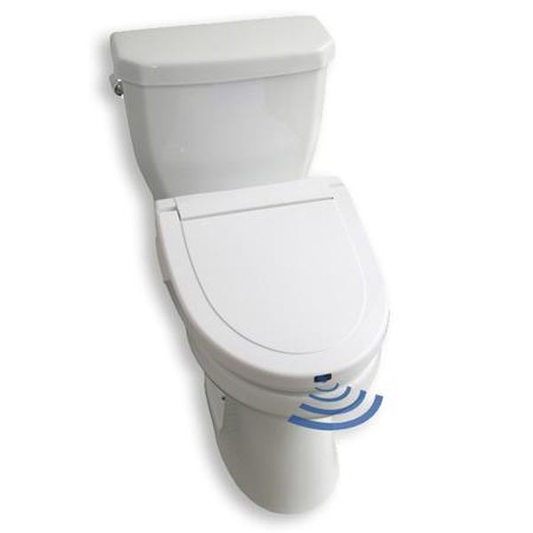 Hands free toilet seat