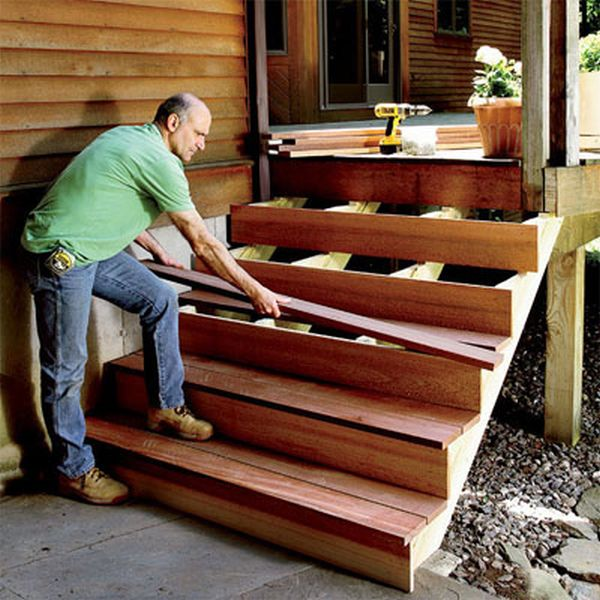 How to build your own basic porch staircase