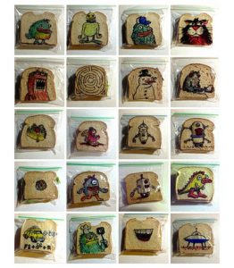 David LaFerriere makes 'sandwich art' drawings for his kids_1