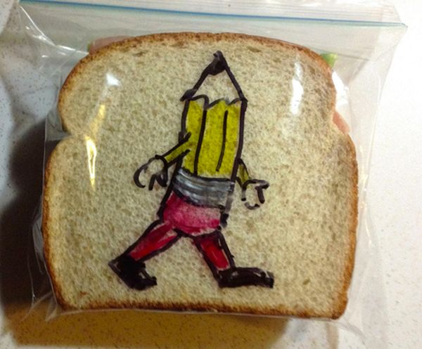 David LaFerriere makes 'sandwich art' drawings for his kids_4