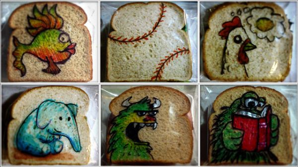 David LaFerriere makes 'sandwich art' drawings for his kids_5