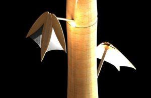 LED bamboo lamp by Johan de Beer