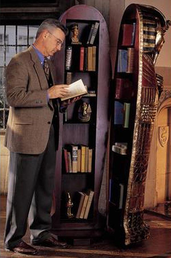Life-Sized King Tut bookshelves