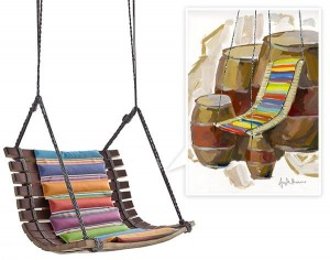Miss Dondola chair by Angela Missoni