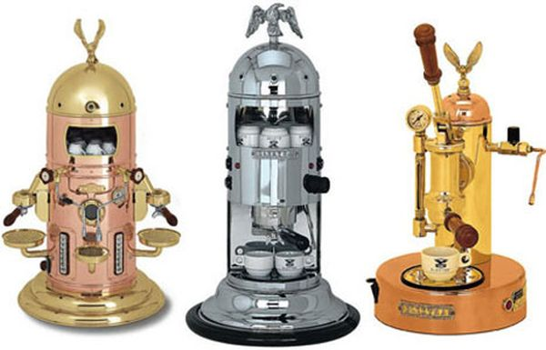 Steampunk Coffee Machines from Elektra