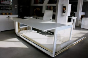 Studio NL's work space desk and sleeping bed_2