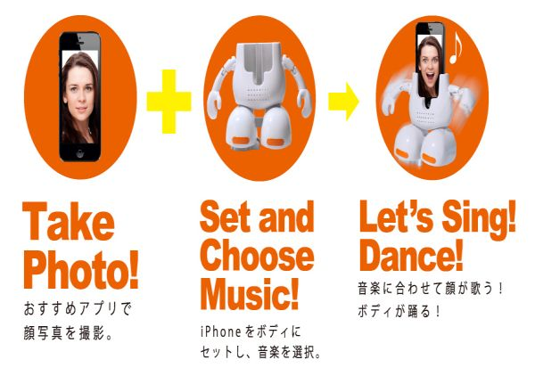 Takara Tomy's Dancing Face-Stand for iPhones_3