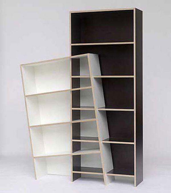 trippy bookcase - Weird Bookshelves