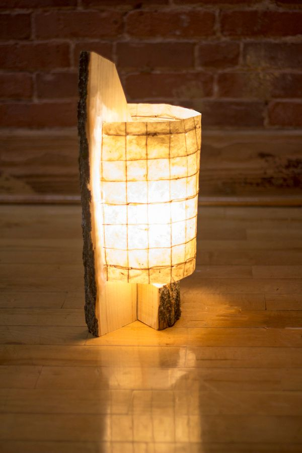 The Gorgeous Kindling Lamp Is Crafted From Natural Ash Wood
