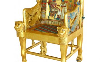 king tut golden throne replica
