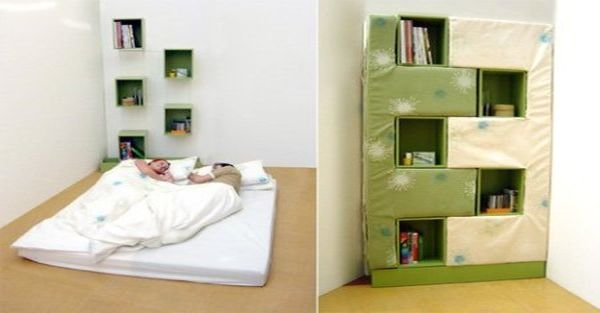 Bookcase and a Bed