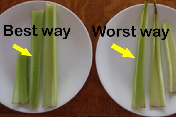 Celery stored in foils to make them last longer