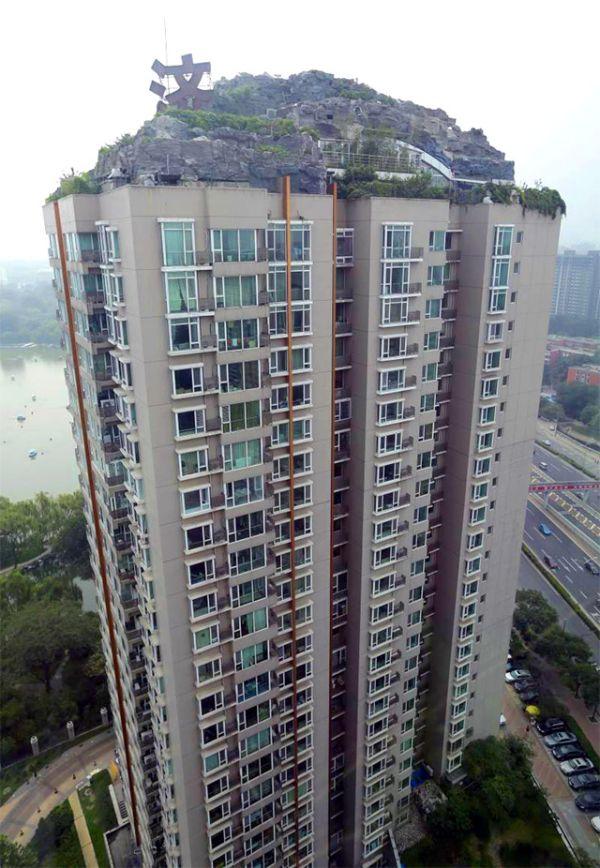 mountain Atop 26-Story Building by Zhang Biqing_1