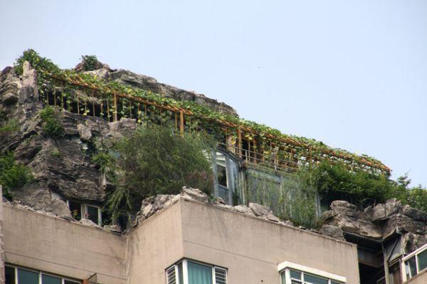 mountain Atop 26-Story Building by Zhang Biqing_4