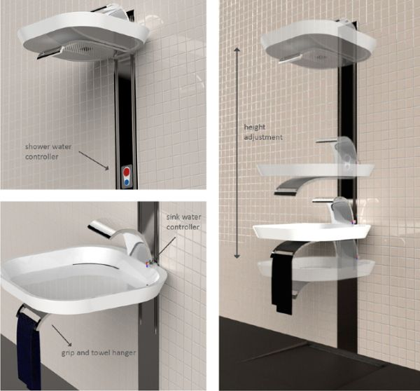 LIFT that combines a sink and shower by Marta Szymkowiak_2