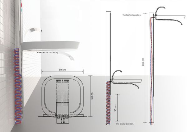 LIFT that combines a sink and shower by Marta Szymkowiak_3