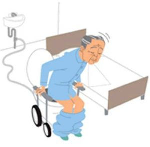 Movable flush toilet by TOTO designed for elderly people_1