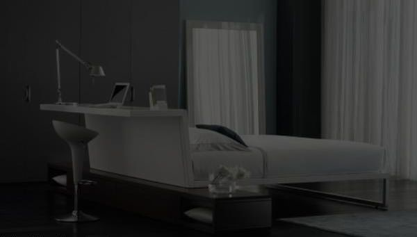 Total White bed from Flou