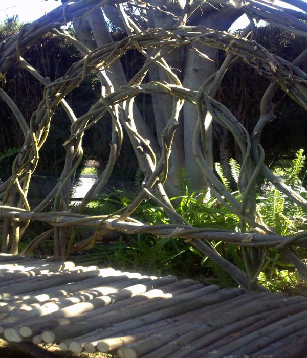 Willow Bench Made Up Of Willow Tree By Kenneth Perez