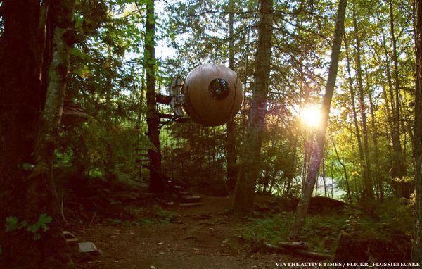 Free Spirit Spheres in Vancouver Island, B.C.
