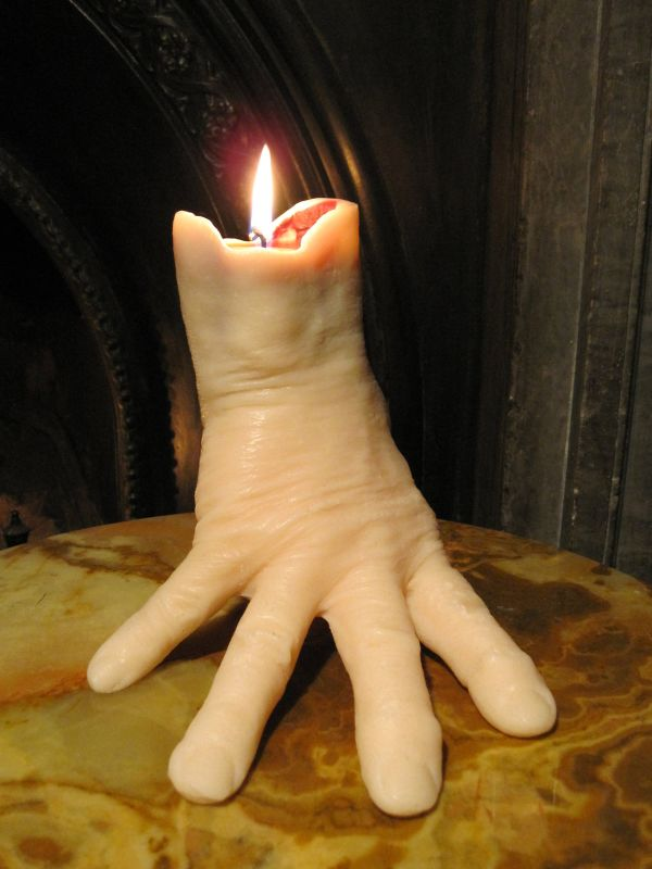 Hand - shaped bleeding candle_4