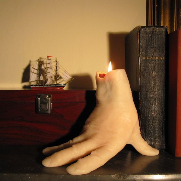 This Hand Shaped Bleeding Candle Is Perfect For Halloween