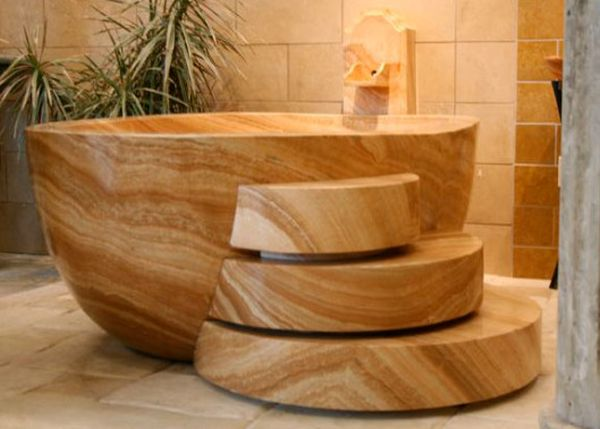 Modern natural bathtub from Carved Stone Creations_6