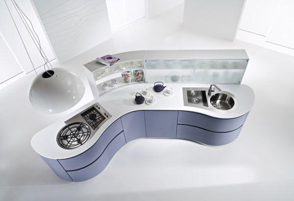 Pedini DUNE island compact kitchen unit