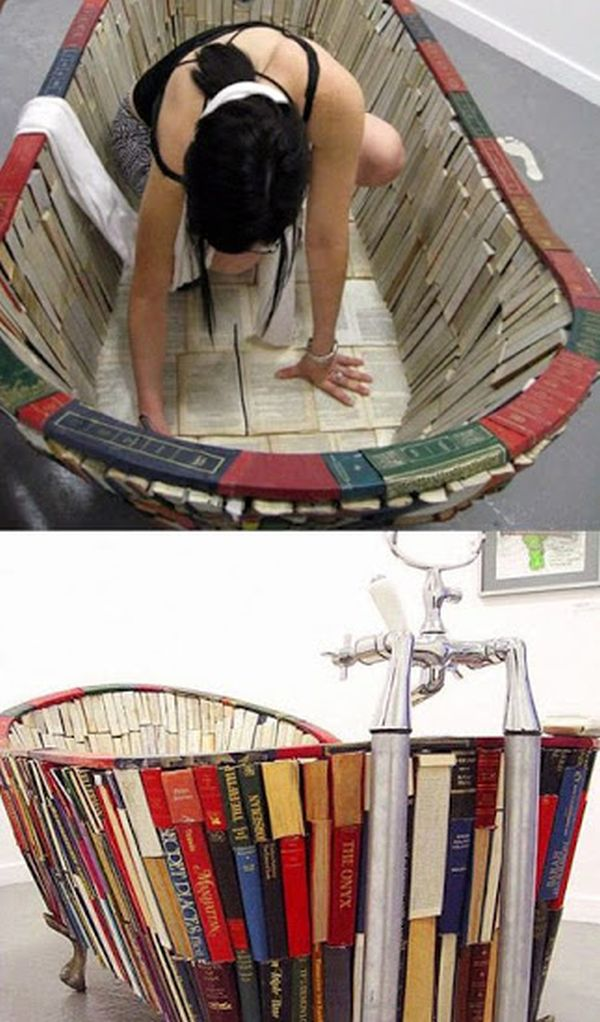 Tub made from books by Vanessa Mancini_7