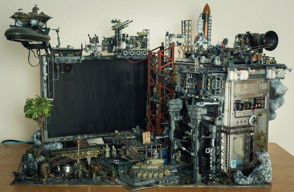 diorama setup by Hiroto Ikeuchi assembling PC case mods together_1